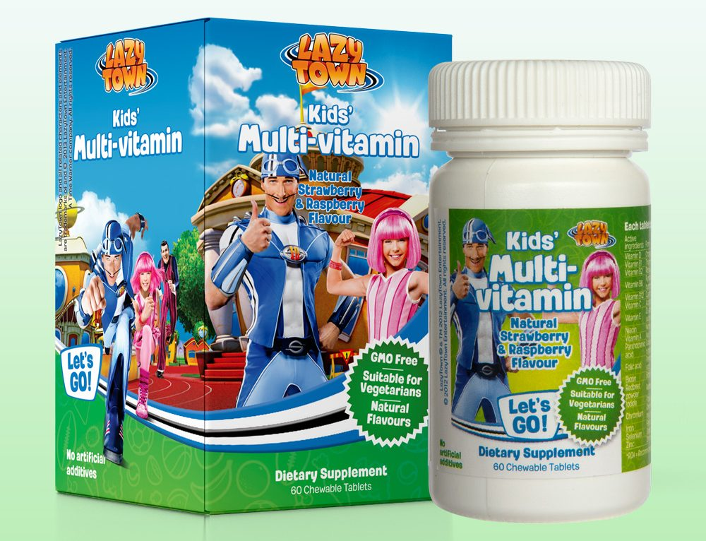 Design ambalaj LazyTown Kids Multivitamin