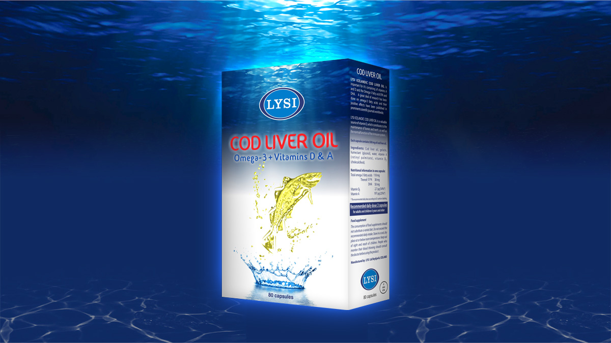 Lysi Cod Liver Oil Design ambalaj