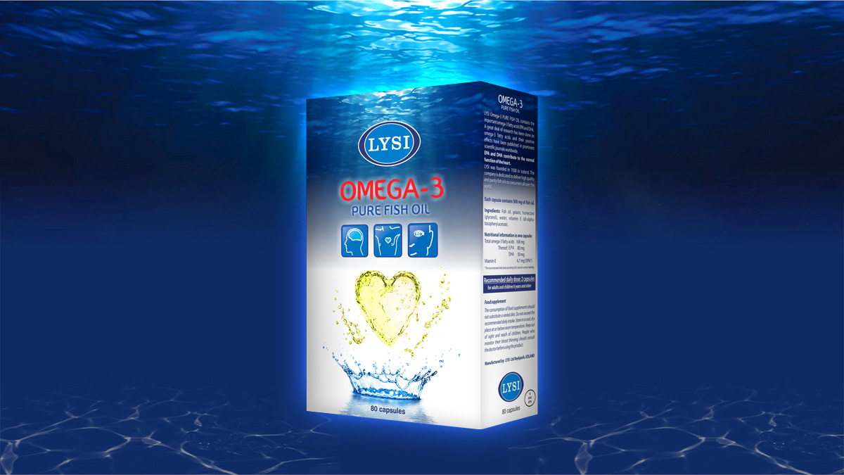 Lysi Omega-3 Package Design